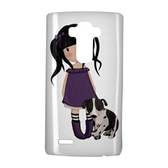 Dolly Girl And Dog Lg G4 Hardshell Case by Valentinaart
