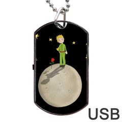 The Little Prince Dog Tag Usb Flash (one Side) by Valentinaart