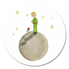 The Little Prince Magnet 5  (round) by Valentinaart