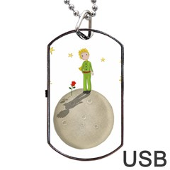 The Little Prince Dog Tag Usb Flash (two Sides) by Valentinaart