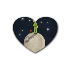 The Little Prince Rubber Coaster (heart)  by Valentinaart