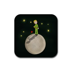 The Little Prince Rubber Square Coaster (4 Pack)  by Valentinaart