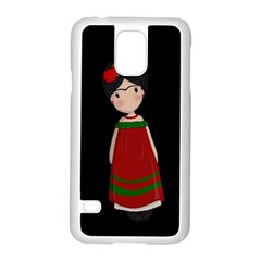 Frida Kahlo Doll Samsung Galaxy S5 Case (white) by Valentinaart