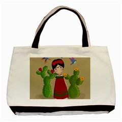 Frida Kahlo Doll Basic Tote Bag by Valentinaart