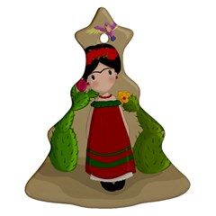 Frida Kahlo Doll Ornament (christmas Tree)  by Valentinaart