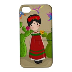 Frida Kahlo Doll Apple Iphone 4/4s Hardshell Case With Stand by Valentinaart
