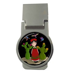 Frida Kahlo Doll Money Clips (round)  by Valentinaart