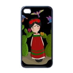 Frida Kahlo Doll Apple Iphone 4 Case (black) by Valentinaart