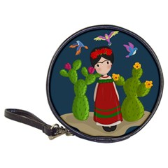 Frida Kahlo Doll Classic 20 Cd Wallets by Valentinaart