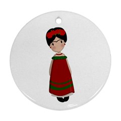 Frida Kahlo Doll Ornament (round) by Valentinaart