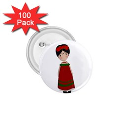 Frida Kahlo Doll 1 75  Buttons (100 Pack)  by Valentinaart