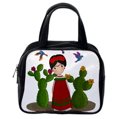 Frida Kahlo Doll Classic Handbags (one Side) by Valentinaart