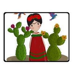 Frida Kahlo Doll Fleece Blanket (small) by Valentinaart