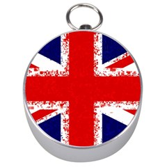 Union Jack London Flag Uk Silver Compasses by Celenk