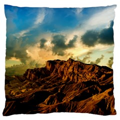 Mountain Sky Landscape Nature Large Flano Cushion Case (two Sides) by Celenk