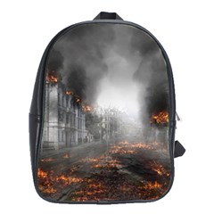 Armageddon Destruction Apocalypse School Bag (xl) by Celenk