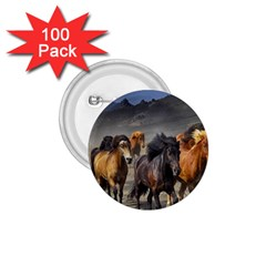 Horses Stampede Nature Running 1 75  Buttons (100 Pack)  by Celenk