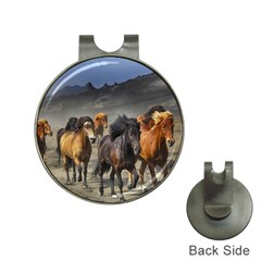 Horses Stampede Nature Running Hat Clips With Golf Markers by Celenk