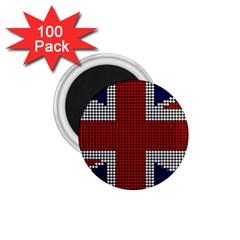 Union Jack Flag British Flag 1 75  Magnets (100 Pack)  by Celenk