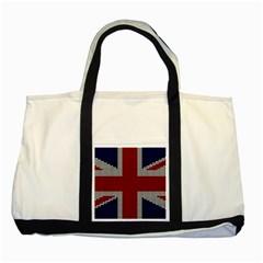 Union Jack Flag British Flag Two Tone Tote Bag by Celenk