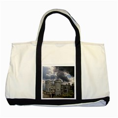 Castle Building Architecture Two Tone Tote Bag by Celenk
