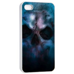 Skull Horror Halloween Death Dead Apple Iphone 4/4s Seamless Case (white) by Celenk