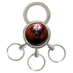 Skull Horror Halloween Death Dead 3 Ring Key Chains by Celenk