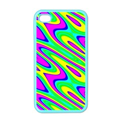 Lilac Yellow Wave Abstract Pattern Apple Iphone 4 Case (color)