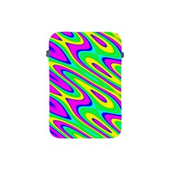 Lilac Yellow Wave Abstract Pattern Apple Ipad Mini Protective Soft Cases by Celenk