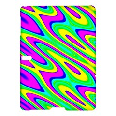 Lilac Yellow Wave Abstract Pattern Samsung Galaxy Tab S (10 5 ) Hardshell Case  by Celenk