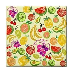 Cute Fruits Pattern Face Towel by paulaoliveiradesign