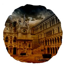 Palace Monument Architecture Large 18  Premium Flano Round Cushions by Celenk