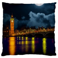 London Skyline England Landmark Large Flano Cushion Case (one Side) by Celenk