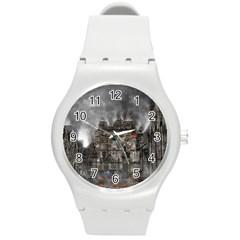 Armageddon War Apocalypse Round Plastic Sport Watch (m)