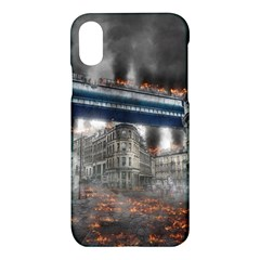 Destruction City Building Apple Iphone X Hardshell Case by Celenk