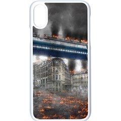 Destruction City Building Apple Iphone X Seamless Case (white) by Celenk