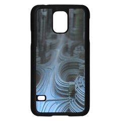 Fractal Design Samsung Galaxy S5 Case (black) by Celenk