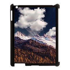 Mountain Sky Landscape Hill Rock Apple Ipad 3/4 Case (black) by Celenk