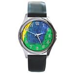 City Round Metal Watch