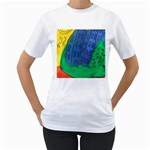 City Women s T-Shirt (White) (Two Sided)