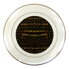 Hot As Candles And Fireworks In The Night Sky Porcelain Plates by pepitasart