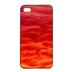 Red Cloud Apple Iphone 4/4s Seamless Case (black) by Celenk
