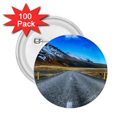 Road Mountain Landscape Travel 2 25  Buttons (100 Pack)  by Celenk