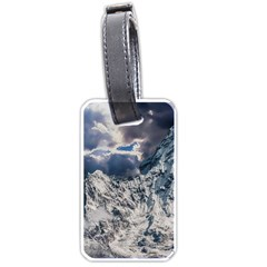 Mountain Snow Winter Landscape Luggage Tags (two Sides) by Celenk