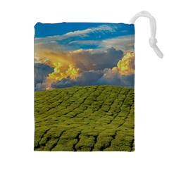 Sunrise Hills Landscape Nature Sky Drawstring Pouches (extra Large) by Celenk