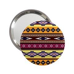 Colorful Tribal Art   Boho Pattern 2 25  Handbag Mirrors by tarastyle