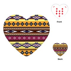 Colorful Tribal Art   Boho Pattern Playing Cards (heart)  by tarastyle