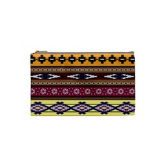 Colorful Tribal Art   Boho Pattern Cosmetic Bag (small)  by tarastyle