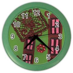 Kite In The Sky Color Wall Clocks by snowwhitegirl