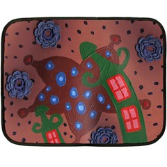 Slanted Green Houses Fleece Blanket (mini) by snowwhitegirl